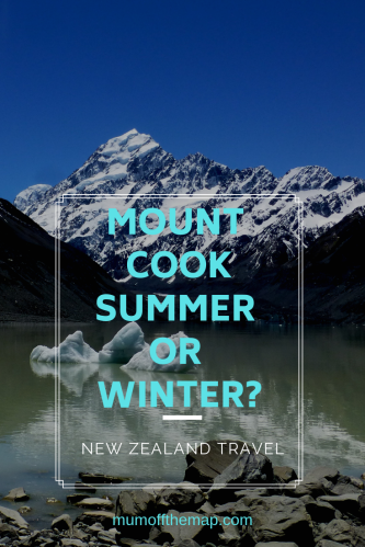 Mount Cook in Summer and Winter
