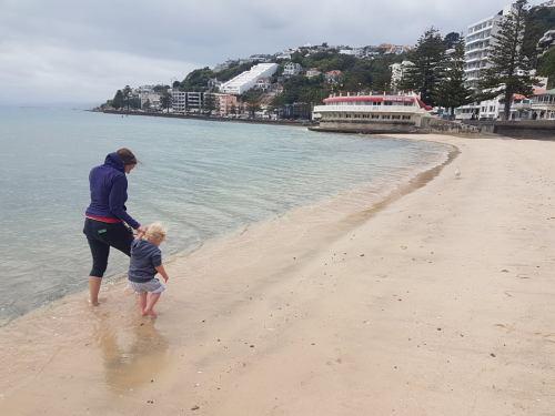 Oriental bay, Wellington is one of 8 family friendly beaches around Wellington