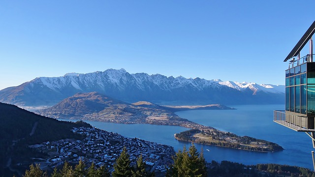 Queenstown panorama and remarkable mountain range
