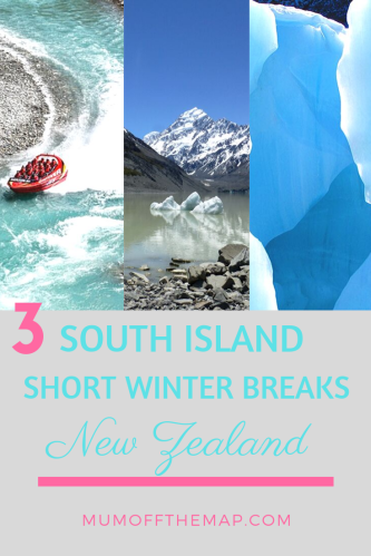 Shotover Jet Queenstown, Mount Cook and Hooker Lake, Fox Glacier. 3 South Island Short Winter Breaks New Zealand