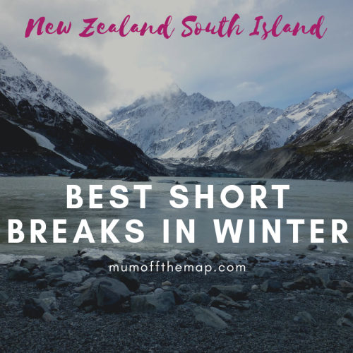 Hooker lake and Mount Cook, Best Short Breaks in winter on New Zealand's South Island